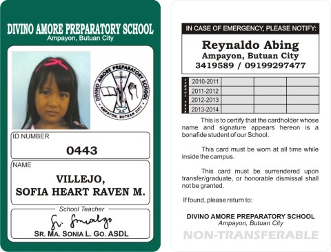 i can create a personalized id design for your companies schools