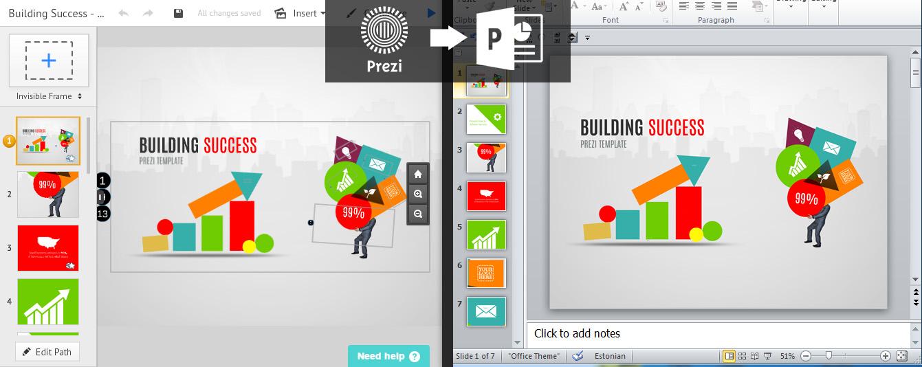I can create Powerpoint/Prezi presentations