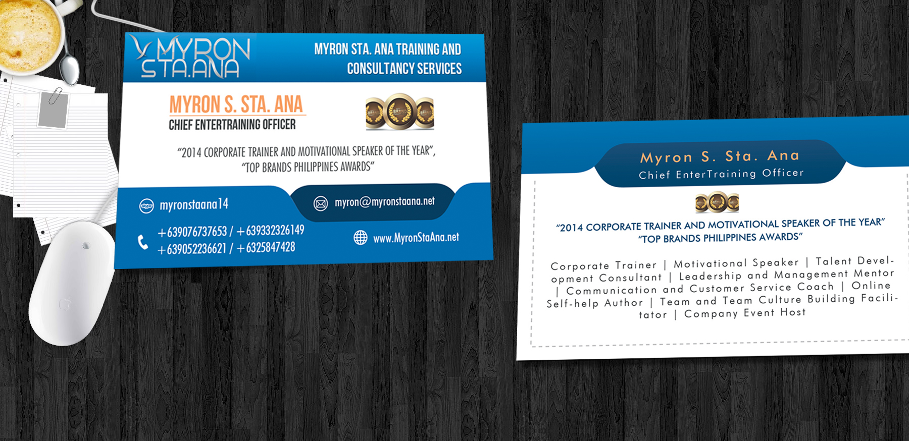 I can design two-sided business card front and back (Custom price)