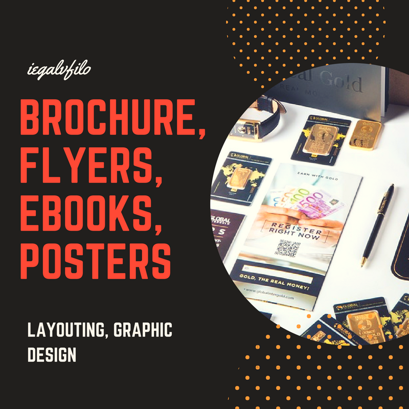 i can create a simple 1 page layout for your brochures flyers