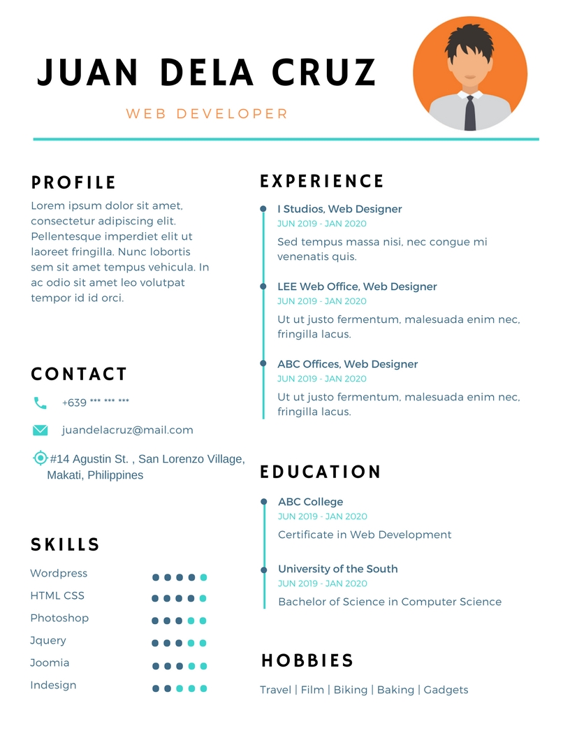 i can create a creative curriculum vitae