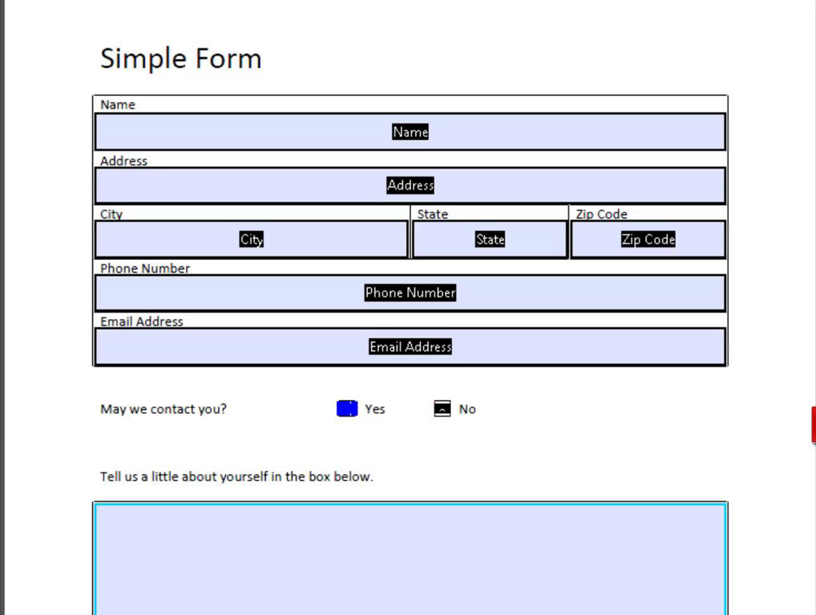 I can make a fillable PDF