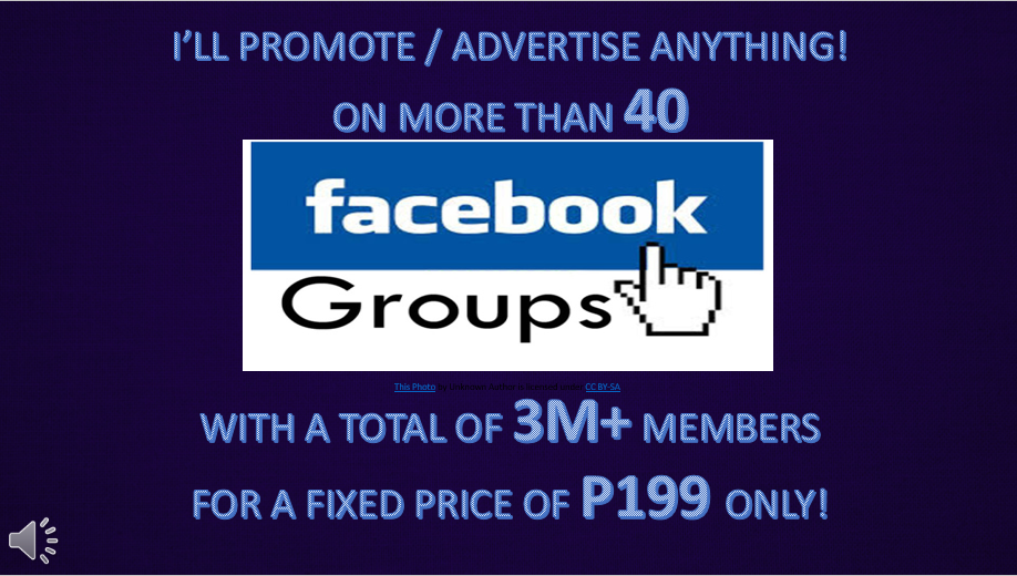 I can promote or advertise anything to 3 million Facebook
